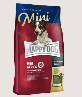happy dog trockenfutter hund mini africa